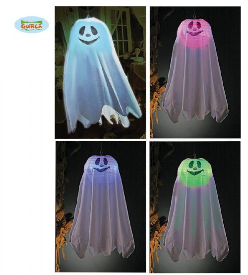 Hanging Light Up Ghost Halloween Party Decoration Prop 60cm Includes Batteries